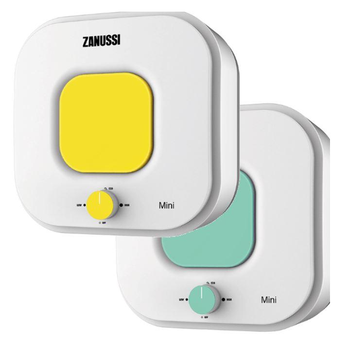 Накопительный водонагреватель Zanussi ZWH/S 15 Mini U (жёлтый/зелёный)