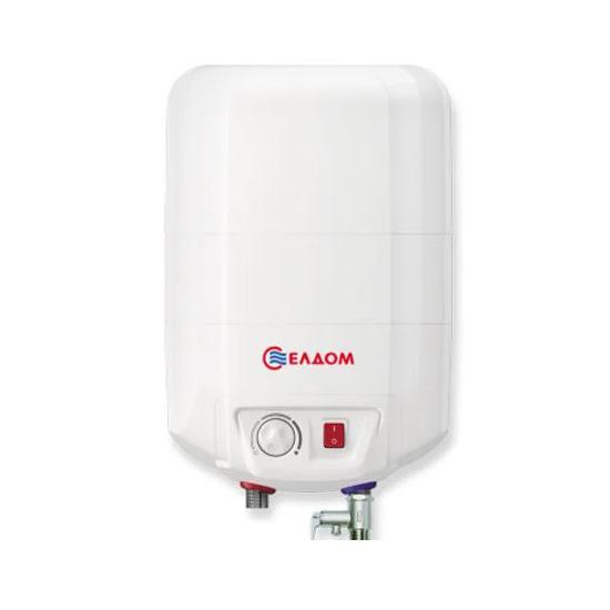 Накопительный водонагреватель Eldom Extra life 10 над мойкой 72325NMP