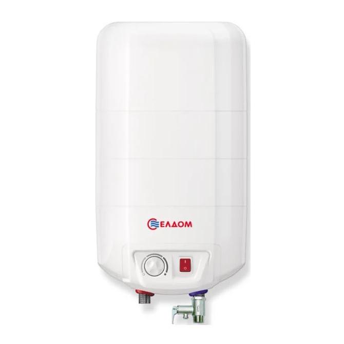 Накопительный водонагреватель Eldom Extra life 15 над мойкой 72326NMP