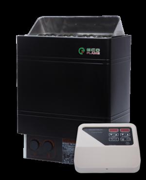 Электрокаменка для бани и сауны EcoFlame AMC 60 D + пульт CON4