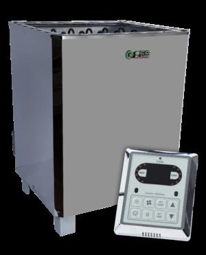 Электрокаменка для бани и сауны EcoFlame SAM – D 12 + пульт CON6