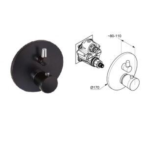 Внешняя часть смесителя для душа Kludi 528358775 Balance matt black